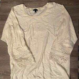 EUC Creamy White Lace Sleeve Blouse